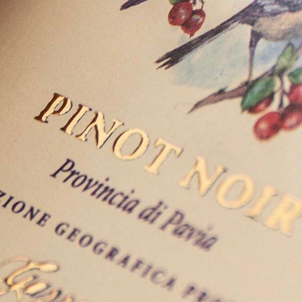 etichette vino e liquori lamina a caldo